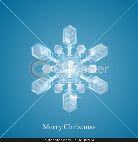 Christmas snowflake  stock vector clipart, A beautiful ornate Christmas snowflake or crystal Christmas ornament in the shape of a snowflake  by Christos Georghiou