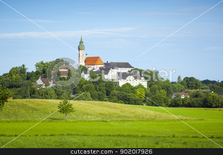 Andechs stock photo, An image of the nice Andechs monastery in Bavaria Germany by Markus Gann