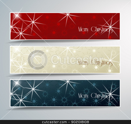 Christmas banner  stock vector clipart, Set of vector Christmas banner  by Miroslava Hlavacova
