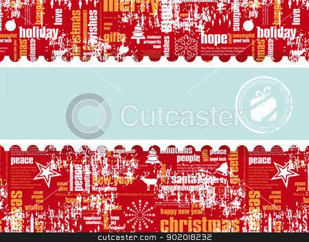 Holiday Illustration with a Free Space for Your Message stock vector clipart, Holiday Illustration with Gift Stamp with a Free Space for Your Message eps10 by 99idesign