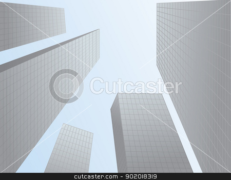 The skyscrapers stock vector clipart, The image can be used in the design of books, websites, advertising by Margit777
