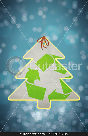 christmas recycling sign stock photo, An image of a nice christmas recycling sign by Markus Gann