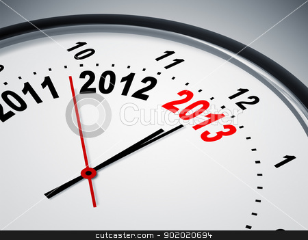 2011 2012 2013 stock photo, An image of a nice clock with 2011 2012 2013 by Markus Gann