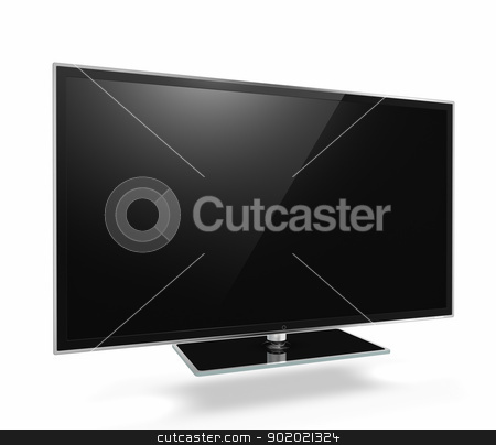 Full HD Led Television  stock photo, Full HD Led Television on white background by manaemedia