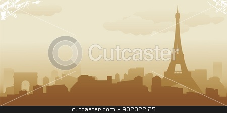 paris stock vector clipart, vector illustration by fcsabi