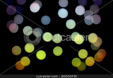colorful dots pattern stock photo, Blurry light circles colorful dots pattern at night. Abstract background. by sirylok