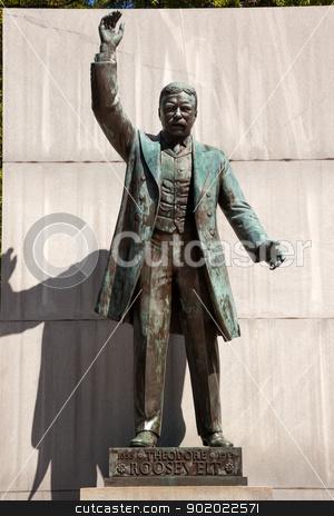 Theodore Roosevelt Statue Island Washington DC stock photo, Theodore Roosevelt Statue Memorial Roosevelt Island Washington DC  by William Perry