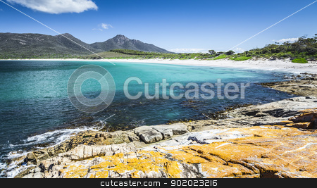 Wineglass Bay in Australia stock photo, An image of the beautiful Wineglass Bay in Australia by Markus Gann