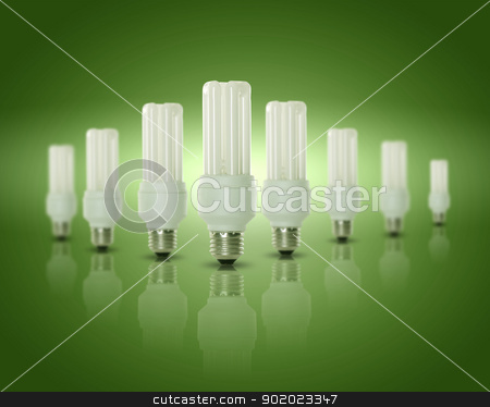 Light bulb lamp stock photo, Energy efficient CFL compact fluorescent light bulb lamp by Sergey Nivens