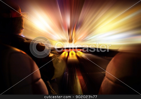futuristic speed in a car stock photo, Concept of speed in a car by carloscastilla