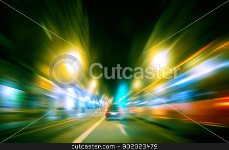speed city traffic stock photo, Abstract image of speed city traffic by carloscastilla