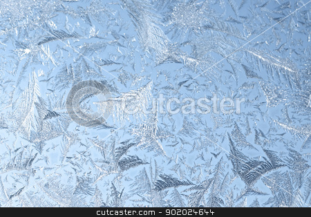 Ice pattern stock photo, Beautiful ice pattern on cold glass texture. by Yulia Chupina
