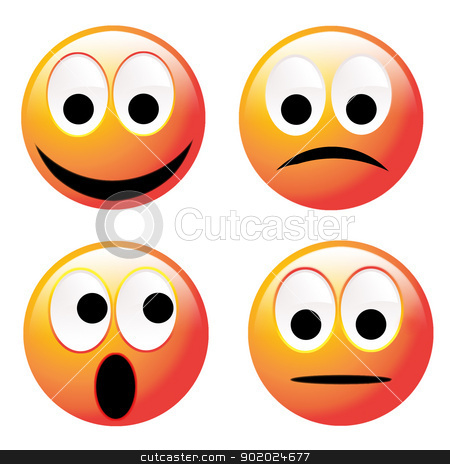 Emotions stock photo, Four different emotions by Yulia Chupina