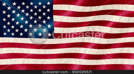 USA flag old crinkled effect illustration. stock photo, USA flag old crinkled effect illustration. by Stephen Rees
