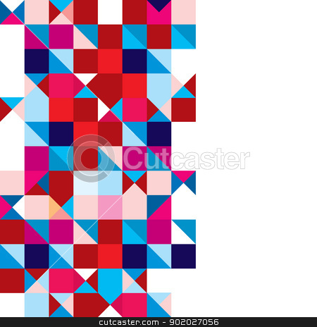 Triangle abstract tricolour stock vector clipart, Square abstract background with triangle element and copyspace by Michael Travers