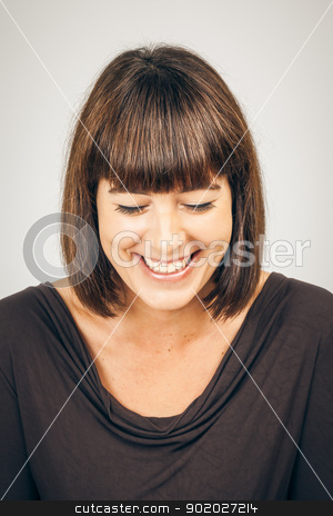 beautiful woman stock photo, An image of a beautiful smiling woman by Markus Gann