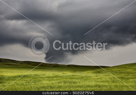 Storm Clouds Saskatchewan stock photo, Storm Clouds Saskatchewan Tornado Starting to Form by Mark Duffy