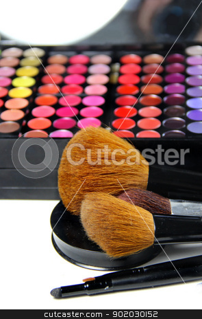 Makeup room stock photo, Big set of professional cosmetic  by Tatiana Mihaliova