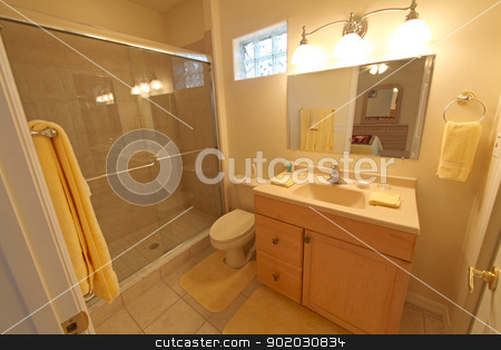 Bathroom stock photo, A Bathroom, Interior Shot in a Home by Lucy Clark