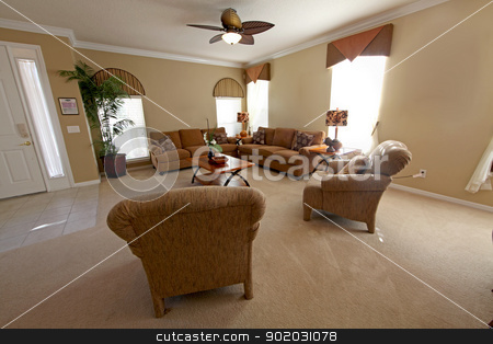 Living Room stock photo, An interior shot of a Living Room in a Home by Lucy Clark