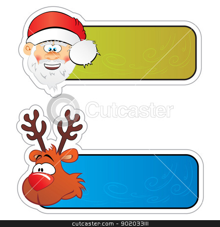 Christmas stickers stock vector clipart, Set of labels for Christmas gifts by Oxygen64