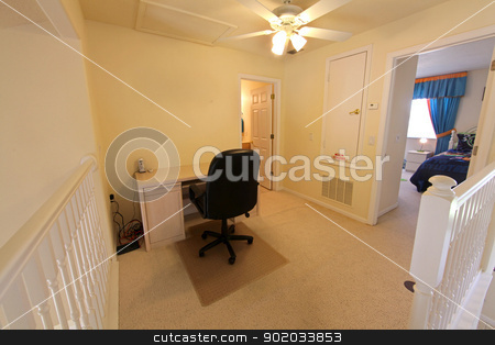 Office stock photo, An upstairs office in a Florida home by Lucy Clark