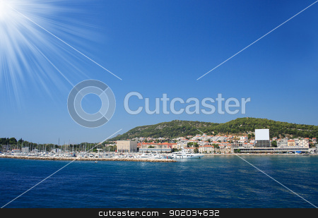 croatia stock photo, The blue sky and sea in croatia by Nneirda