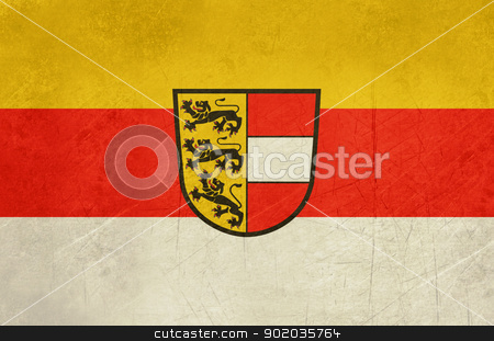 Grunge Carinthia state flag stock photo, Grunge state flag of the state of Carinthia in Austria. by Martin Crowdy
