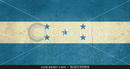 Grunge Honduras Flag stock photo, Grunge sovereign state flag of country of Honduras in official colors. by Martin Crowdy
