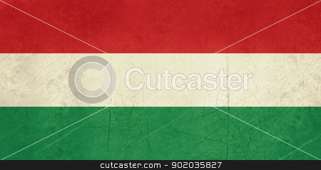 Grunge Hungary Flag stock photo, Grunge sovereign state flag of country of Hungary in official colors. by Martin Crowdy