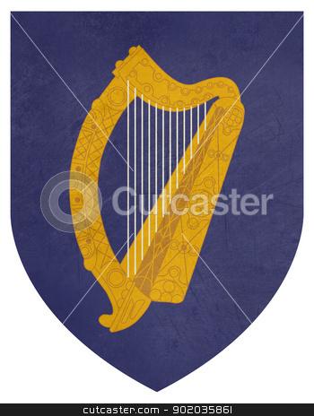 Grunge Ireland Coat of Arms stock photo, Grunge Ireland coat of arms, seal or national emblem, isolated on white background. by Martin Crowdy