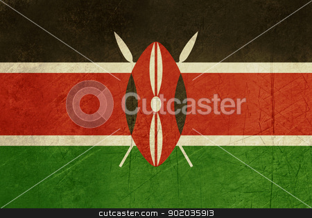 Grunge Kenya flag stock photo, Grunge sovereign state flag of country of Kenya in official colors. by Martin Crowdy