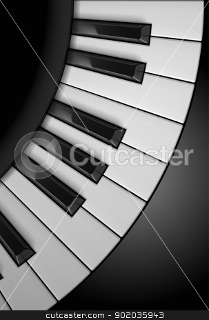 Piano keys stock photo, Piano keys. Illustration on black background, for design by dvarg