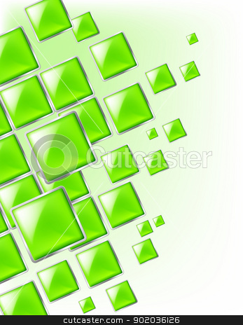 Square background stock photo, Green Square background abstract of techno style. Illustration for design. by dvarg