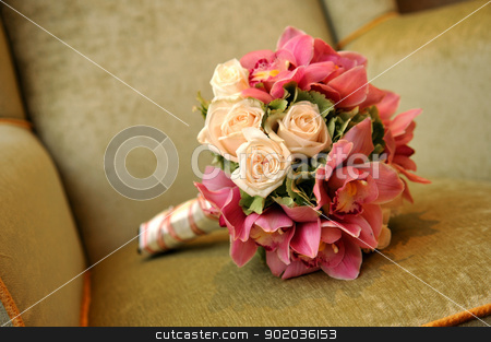 Hand bouquet stock photo, A fresh flower hand bouquet for the bride by Hasnuddin Abu Samah