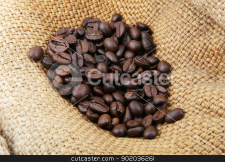 coffee beans stock photo, coffee beans. by Nenov Brothers Images