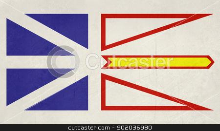 Grunge Newfoundland and Labrador state flag stock photo, Grunge illustration of Newfoundland and Labrador state flag, Canada. by Martin Crowdy