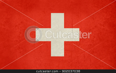 Grunge Switzerland Flag stock photo, Grunge sovereign state flag of country of Switzerland in official colors. f by Martin Crowdy