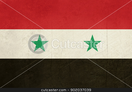Grunge Syria Flag stock photo, Grunge sovereign state flag of country of Syria in official colors.  by Martin Crowdy