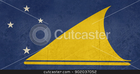 Grunge Tokelau Flag stock photo, Grunge sovereign state flag of dependent country of Tokelau in official colors.  by Martin Crowdy