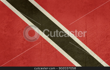 Grunge Trinidad and Tobago flag stock photo, Grunge Sovereign state flag of country of Trinidad and Tobago in official colors.  by Martin Crowdy
