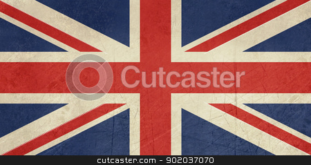 Grunge United Kingdom Flag stock photo, Grunge United Kingdom Flag or Great Britain Union Jack. by Martin Crowdy
