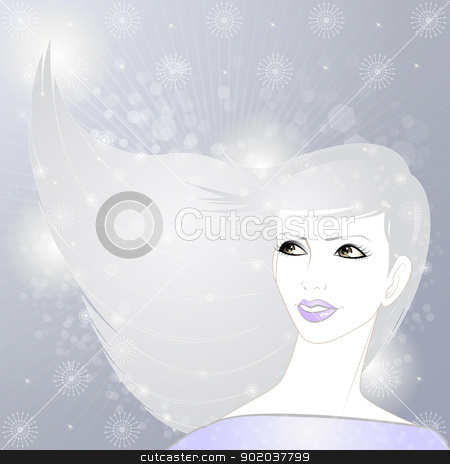 Beauty in Winter stock vector clipart, An illustration of beautiful woman in winter by Elsyann