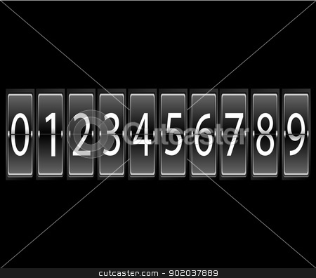 numbers on Airport Terminal timetable Display Font Set vector illustration stock vector clipart, numbers on Airport Terminal timetable Display Font Set vector illustration by vician