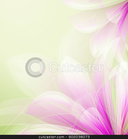 flower stock vector clipart, Abstract floral background with place for text by Miroslava Hlavacova