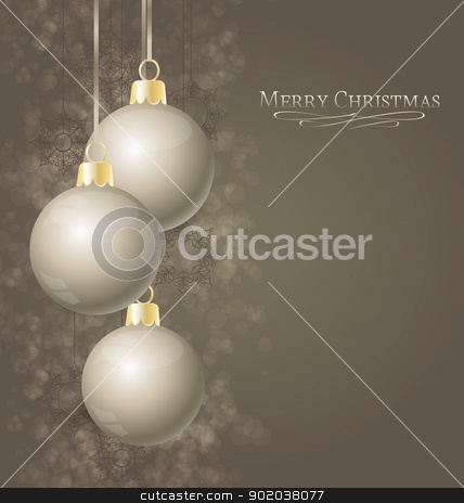 Christmas balls stock vector clipart, Elegant Christmas background with Christmas balls by Miroslava Hlavacova