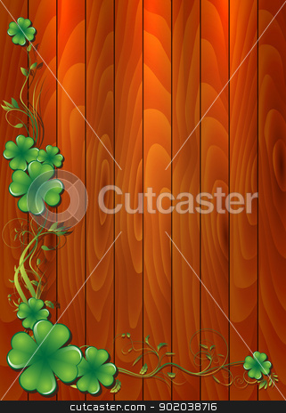 St. Patrick Card stock vector clipart, This image represents a St. Patrick Card Background. / St. Patrick Card by Bagiuiani Kostas