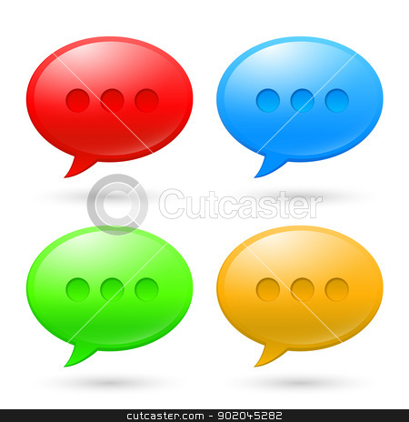 Collection Speech Bubbles stock photo, Collection Speech Bubbles. Illustration on white background by dvarg