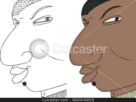 Black Man Winking stock vector clipart, Young winking black man with expression on isolated background by Eric Basir
