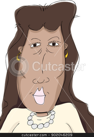 Middle Aged Hispanic Lady stock vector clipart, Pretty middle aged Hispanic woman over isolated background by Eric Basir